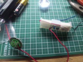 電池ボックスと基板